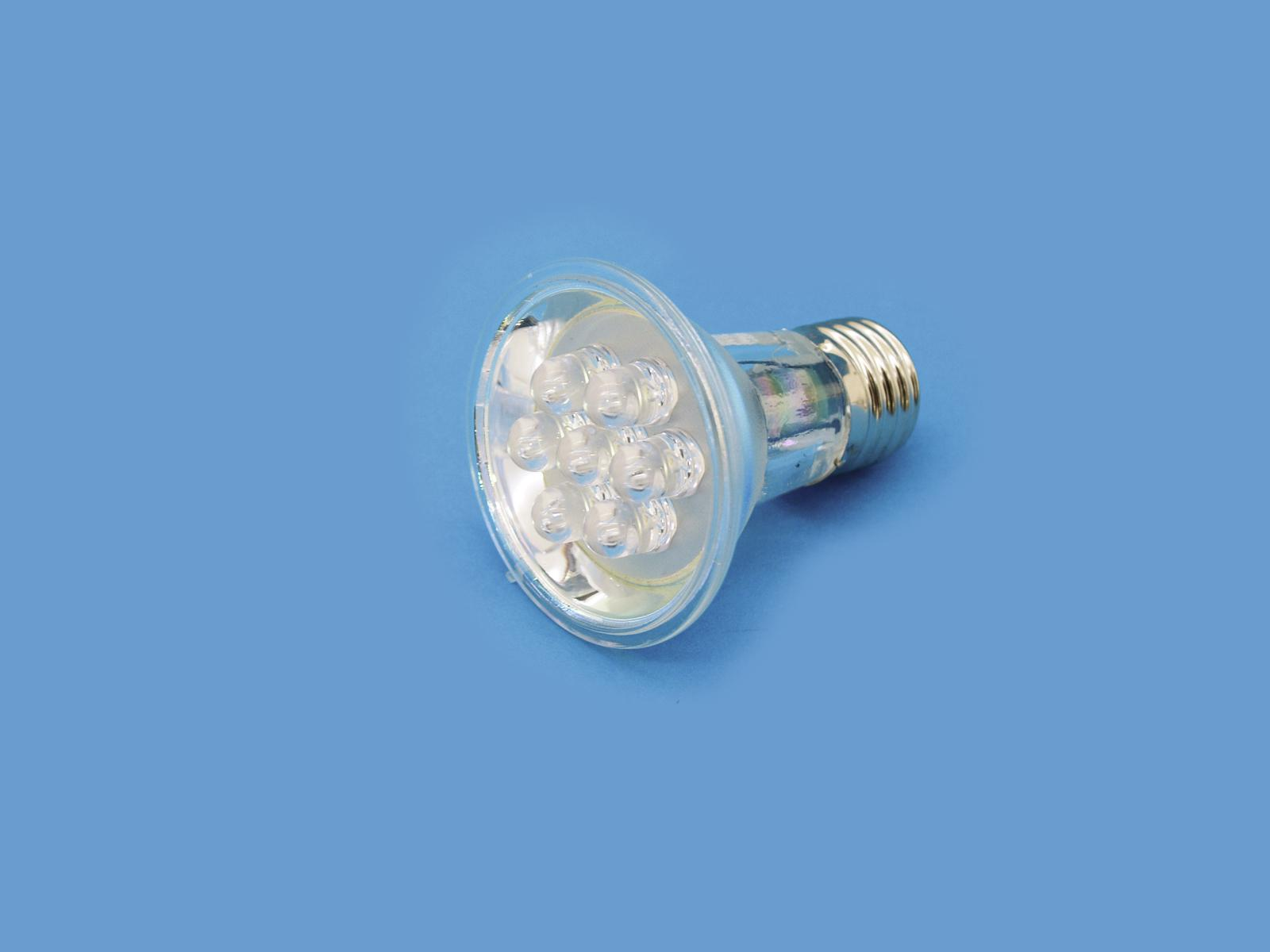 OMNILUX PAR-20 230V E-27 a 7 LED 10mm giallo
