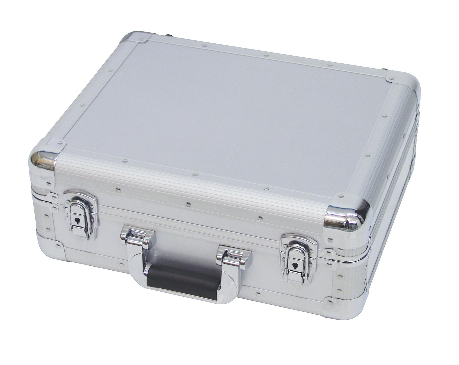 Flight case per giradischi cdj e cd musicali ROADINGER ALU silver
