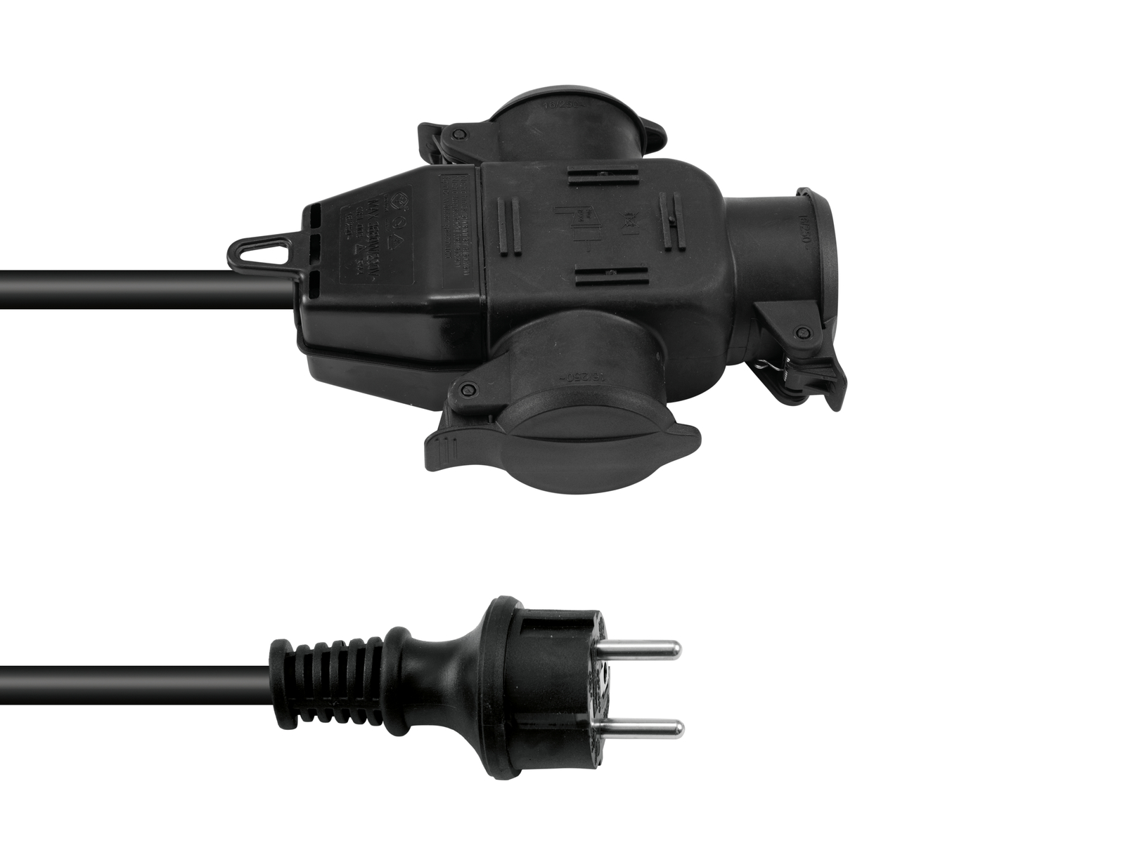 Extension power cable 3x2.5 1x Plug To 2x Plug B Eurolite 3MT
