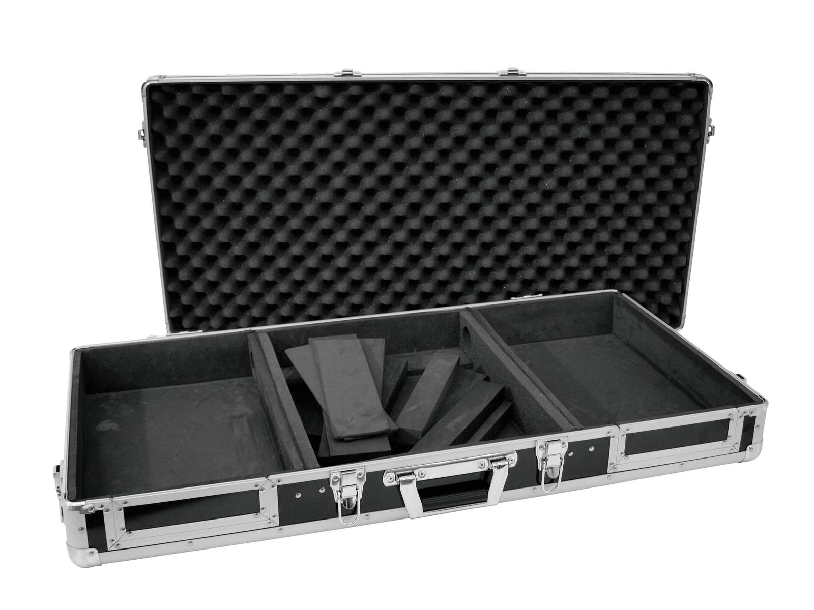 Flight Case Custodia Per Console Cdj Mixer Pc ROADINGER DIGI-1 2xCD/1xM-12 bk