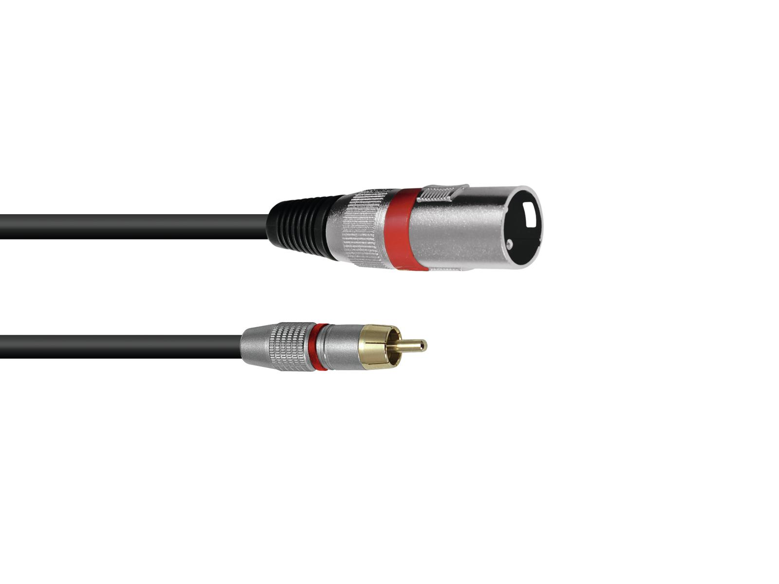 OMNITRONIC Adaptercable RCA/XLR(M) 0.9 m rd