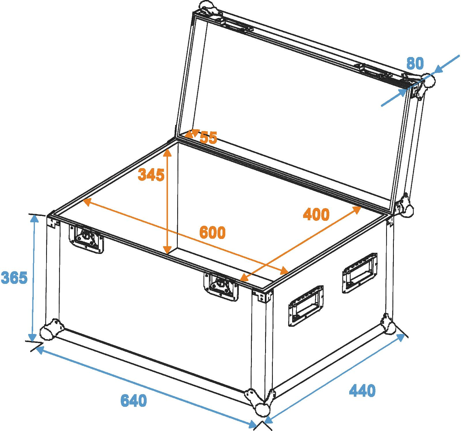 ROADINGER Flight Case Universa