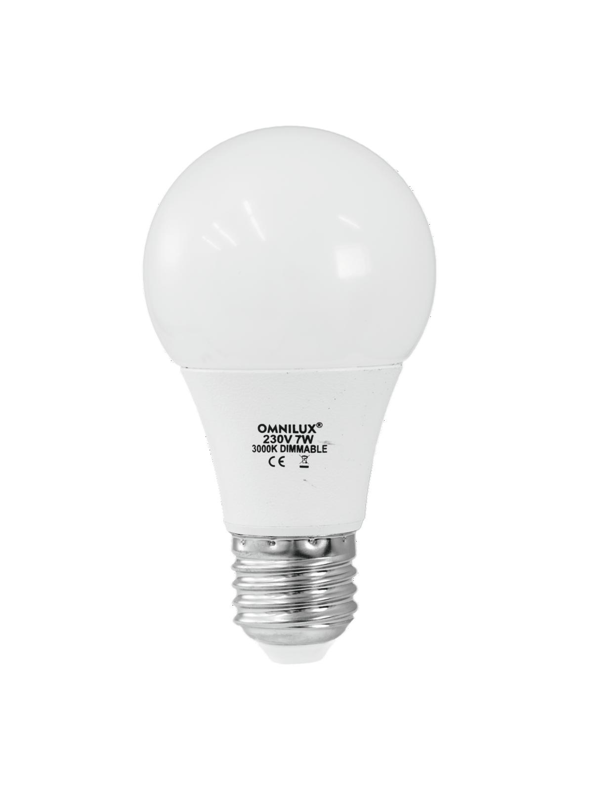 Lampada led dimmerabile LED A19 230V 7W E-27 3000K OMNILUX