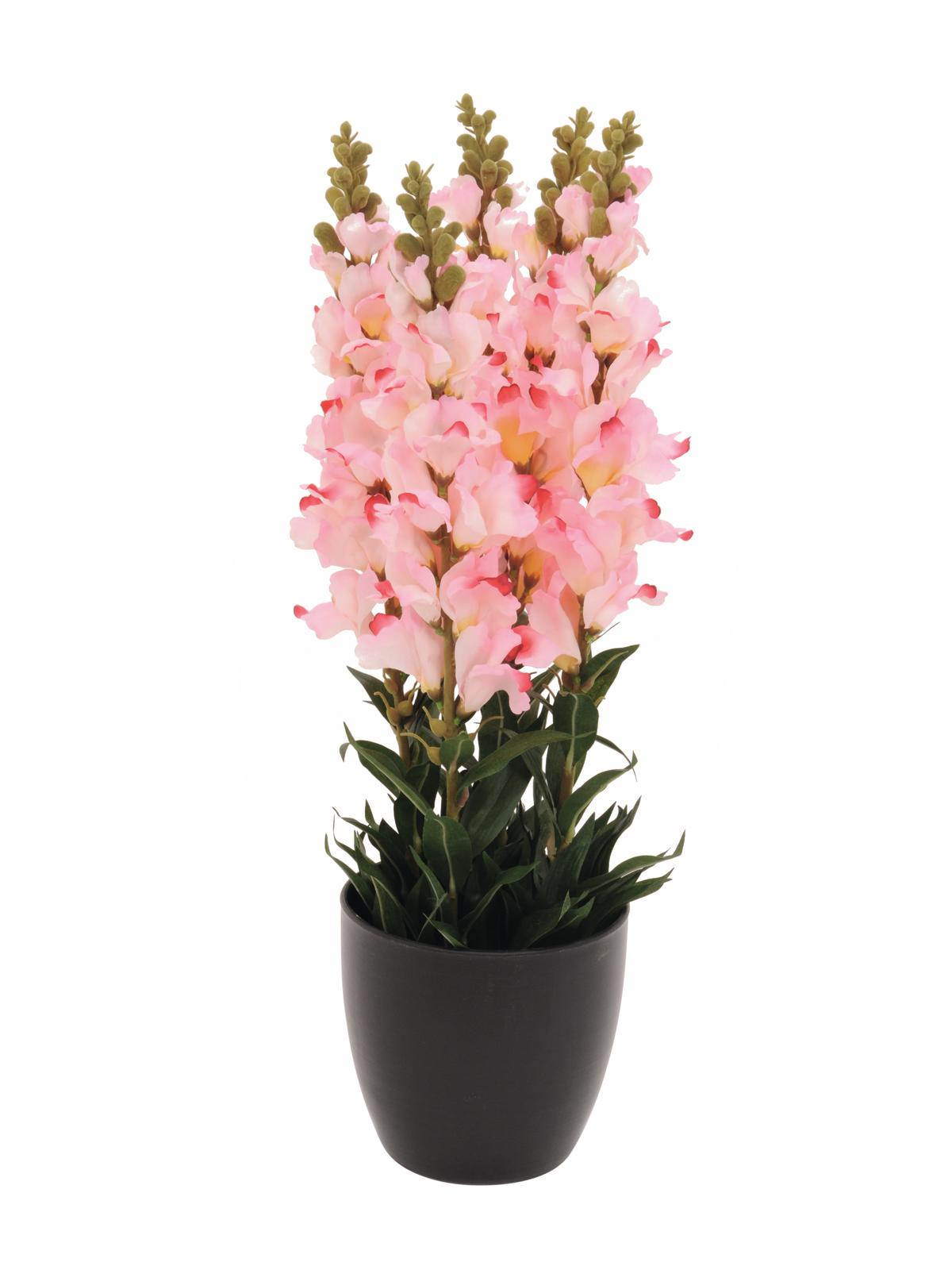 EUROPALMS pianta artificiale Antirrhinum, rosa, 65cm