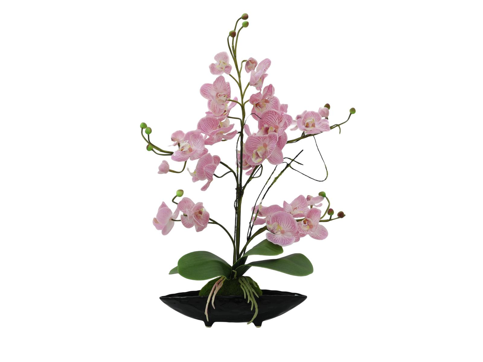 Pianta artificiale con vaso Orchidea Viola Europalms