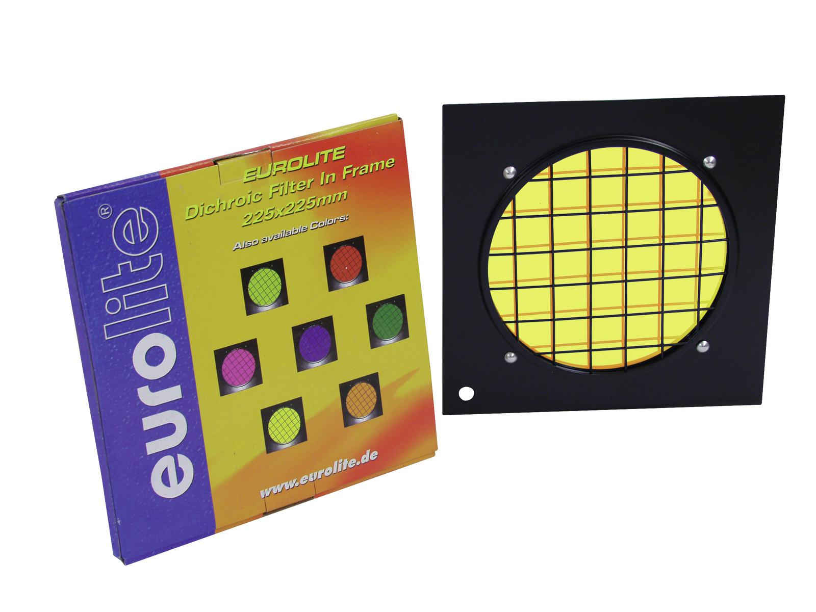 Filter, Dichroic, For PAR 56 profi-spot 225 x 225 mm EUROLITE Yellow