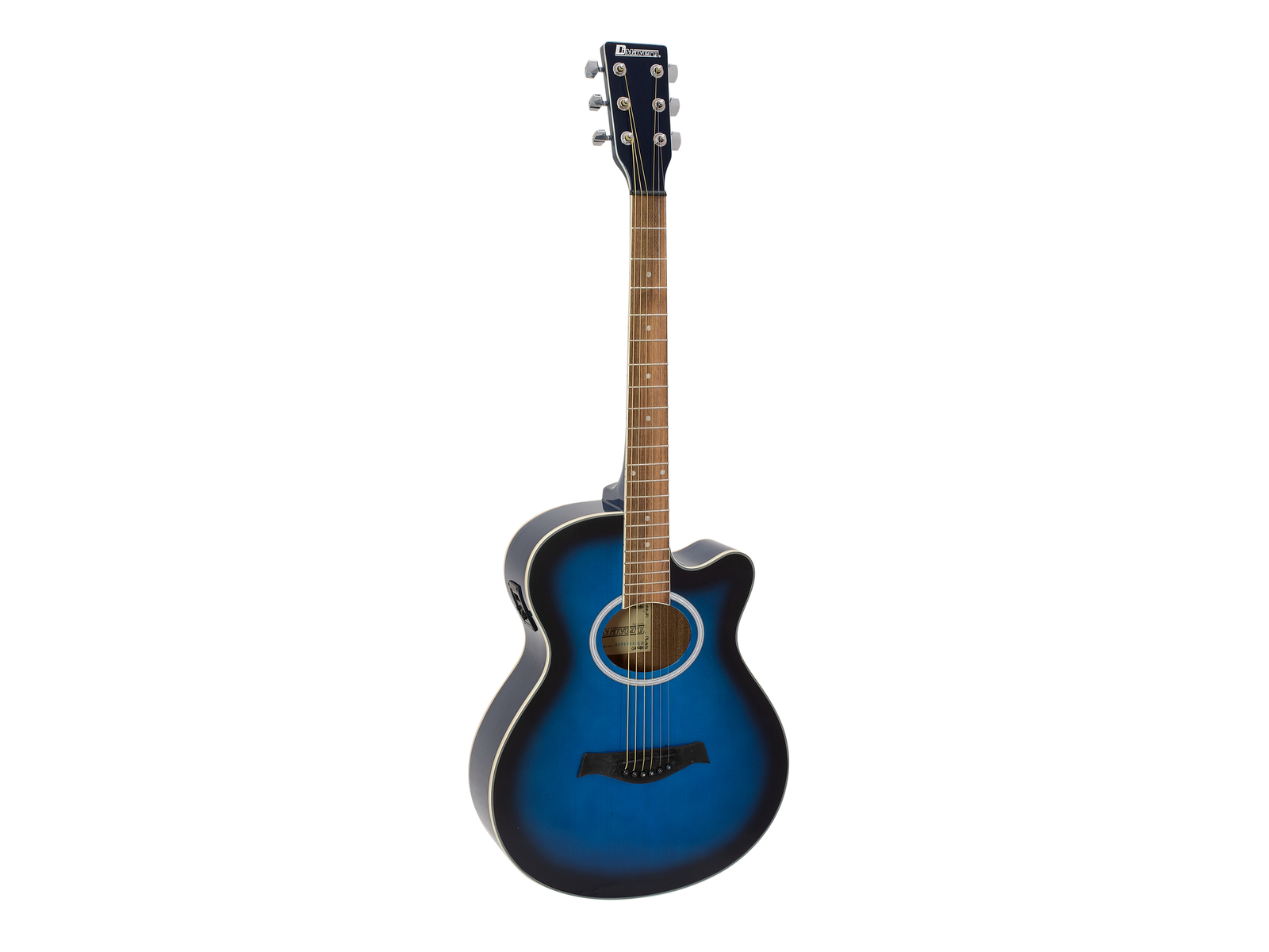 DIMAVERY AW-400 Occidentale chitarra, blueburst