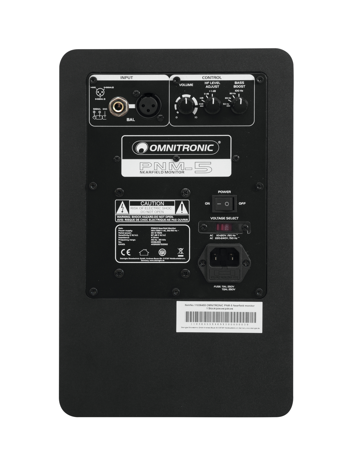 OMNITRONIC PNM-5 Nearfield  casse audio monitor da Studio 60w