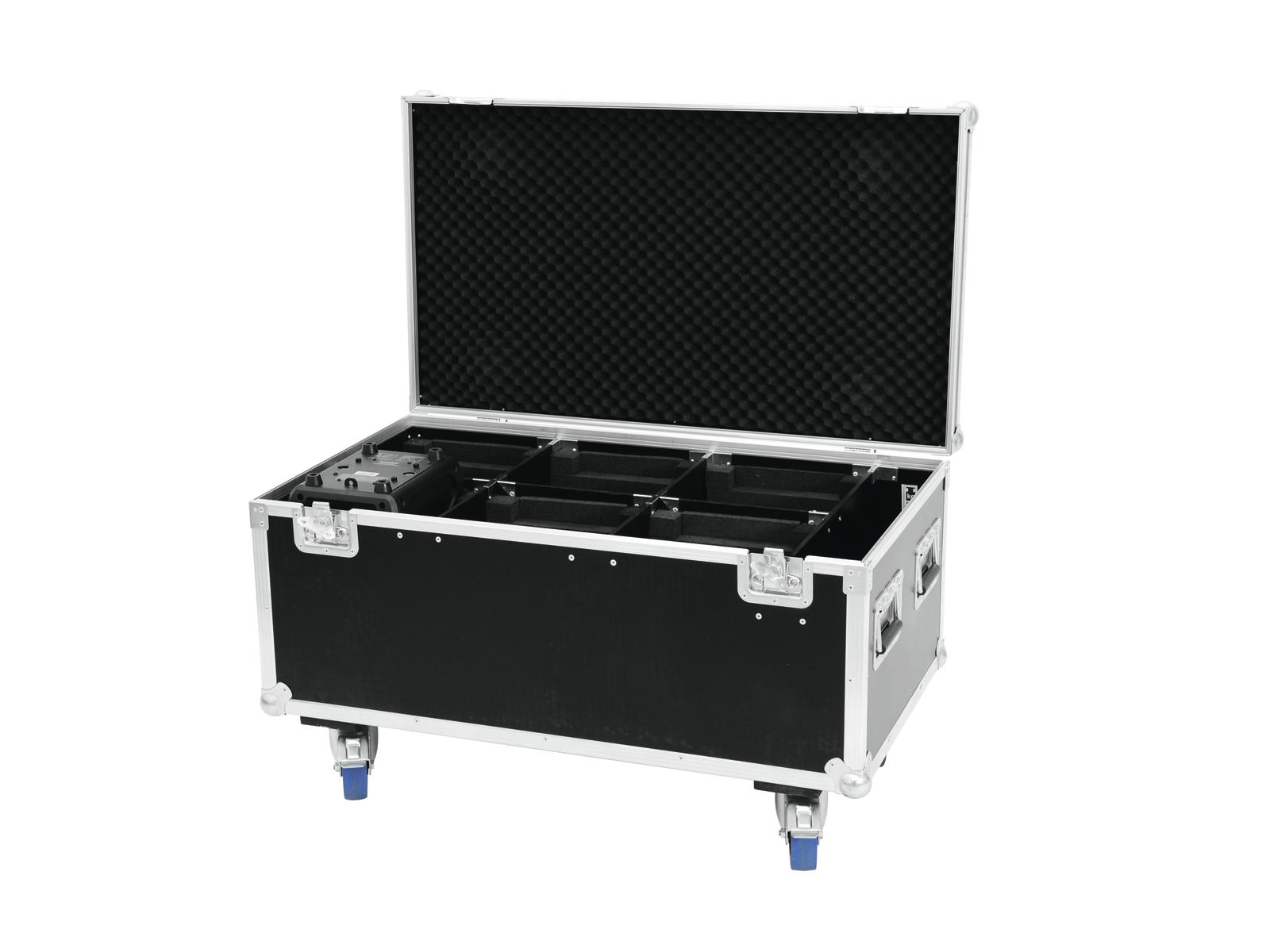 ROADINGER Flightcase 6x OCCHIO-7 led RGBW