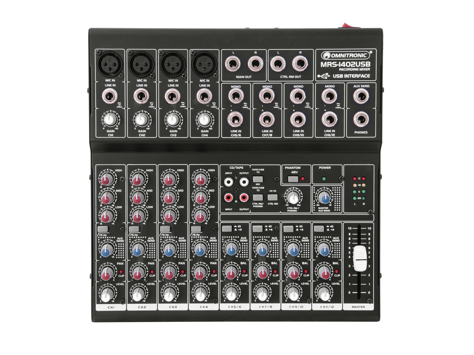 OMNITRONIC MRS-1402USB Recording mixer