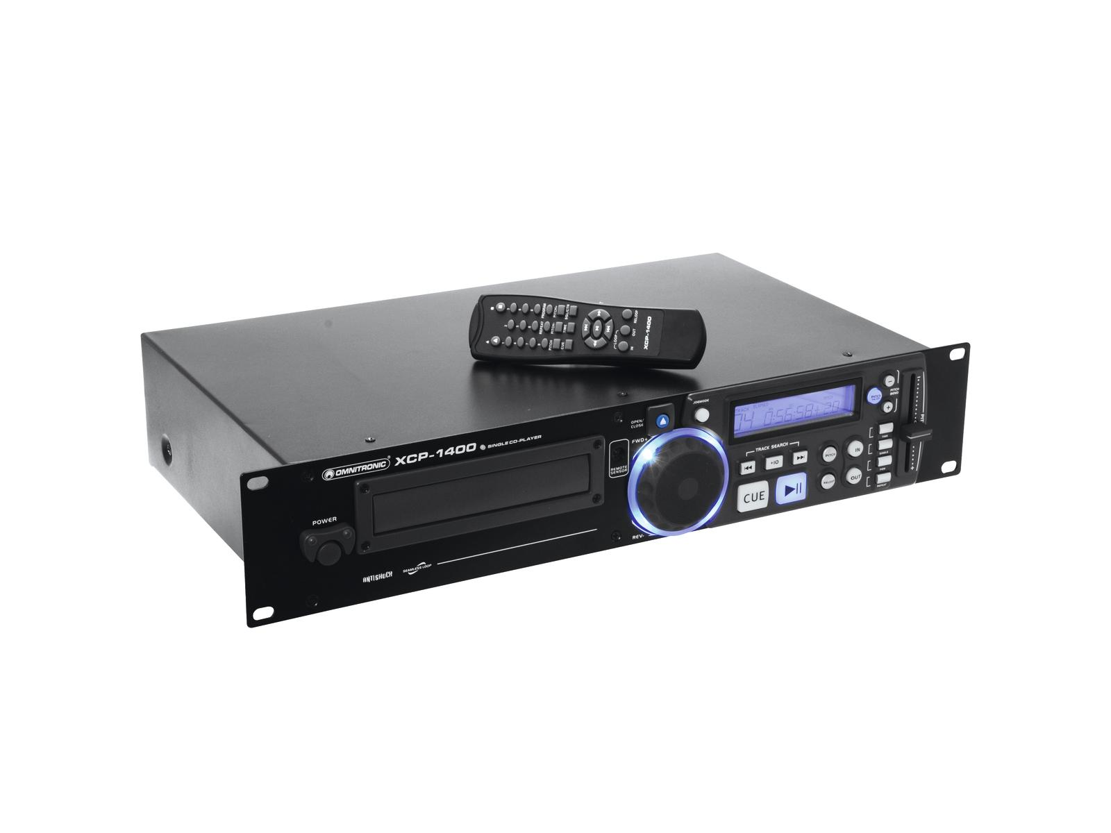 Lettore CD a rack anti-shock Pitch control OMNITRONIC XCP-1400