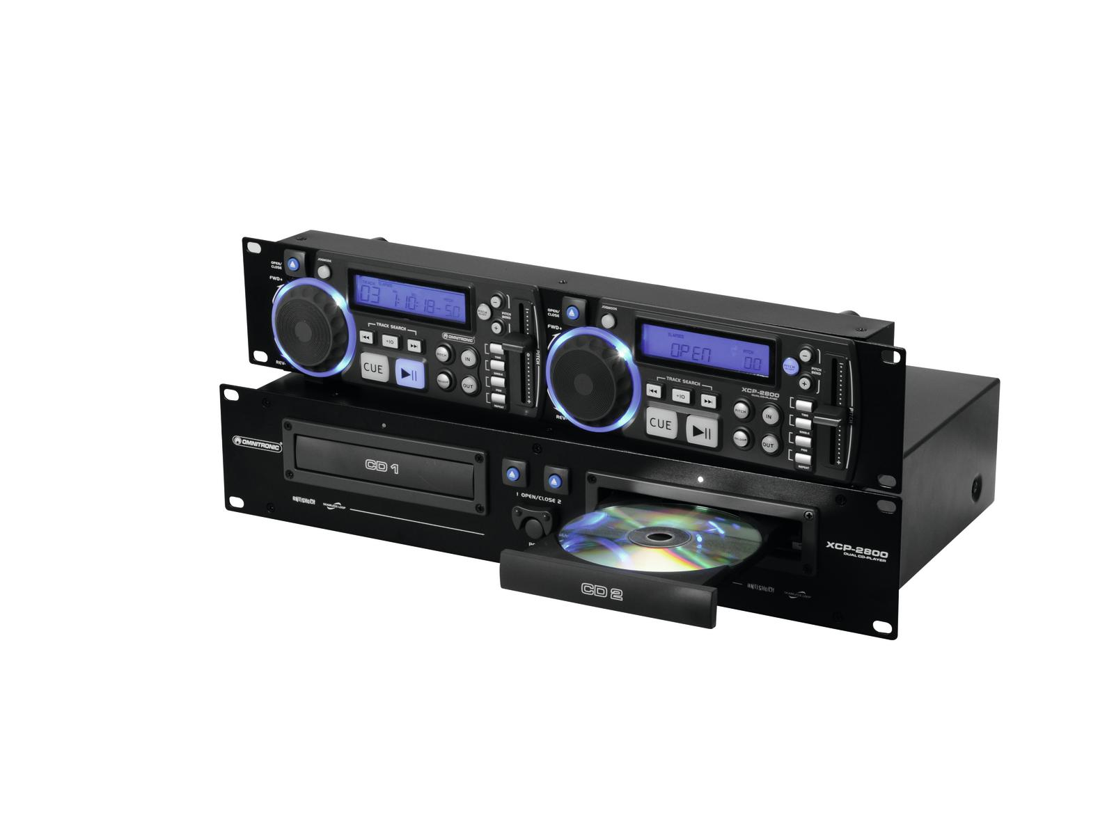 Dual CD Player dj rack anti-shock Pitch control OMNITRONIC XCP-2800