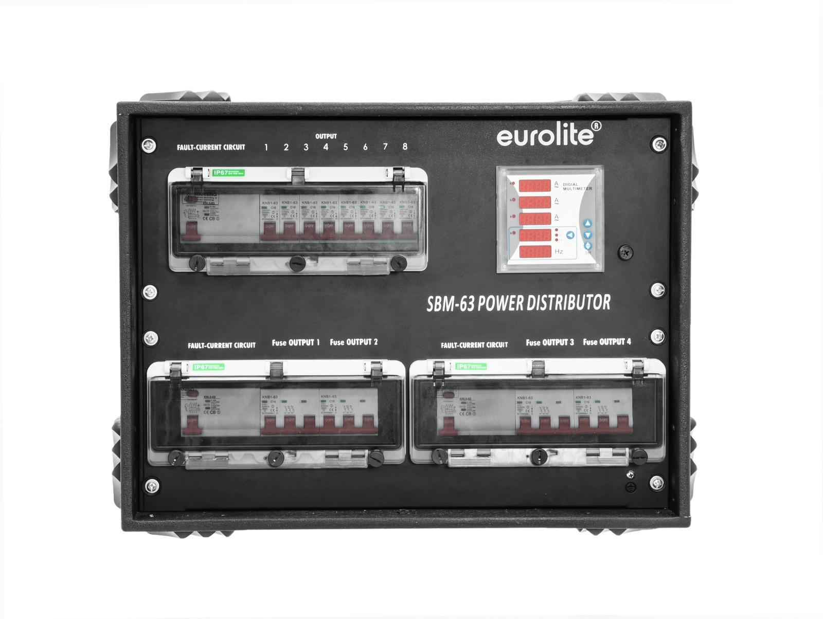Power distributor rack 63A CEE EUROLITE SBM-63