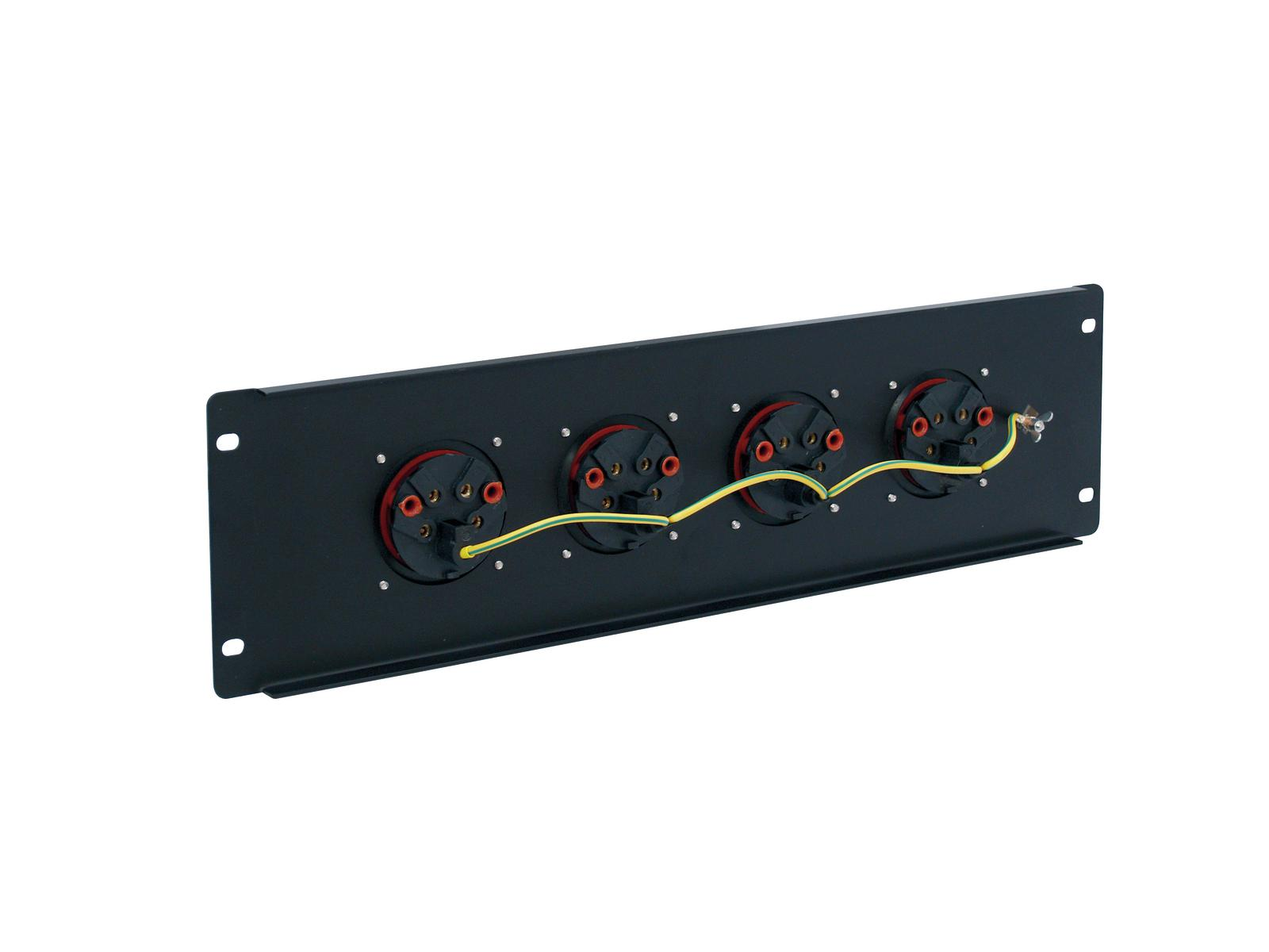 Power distributor EUROLITE wall or panel-3U-4CEE 16A 5pin