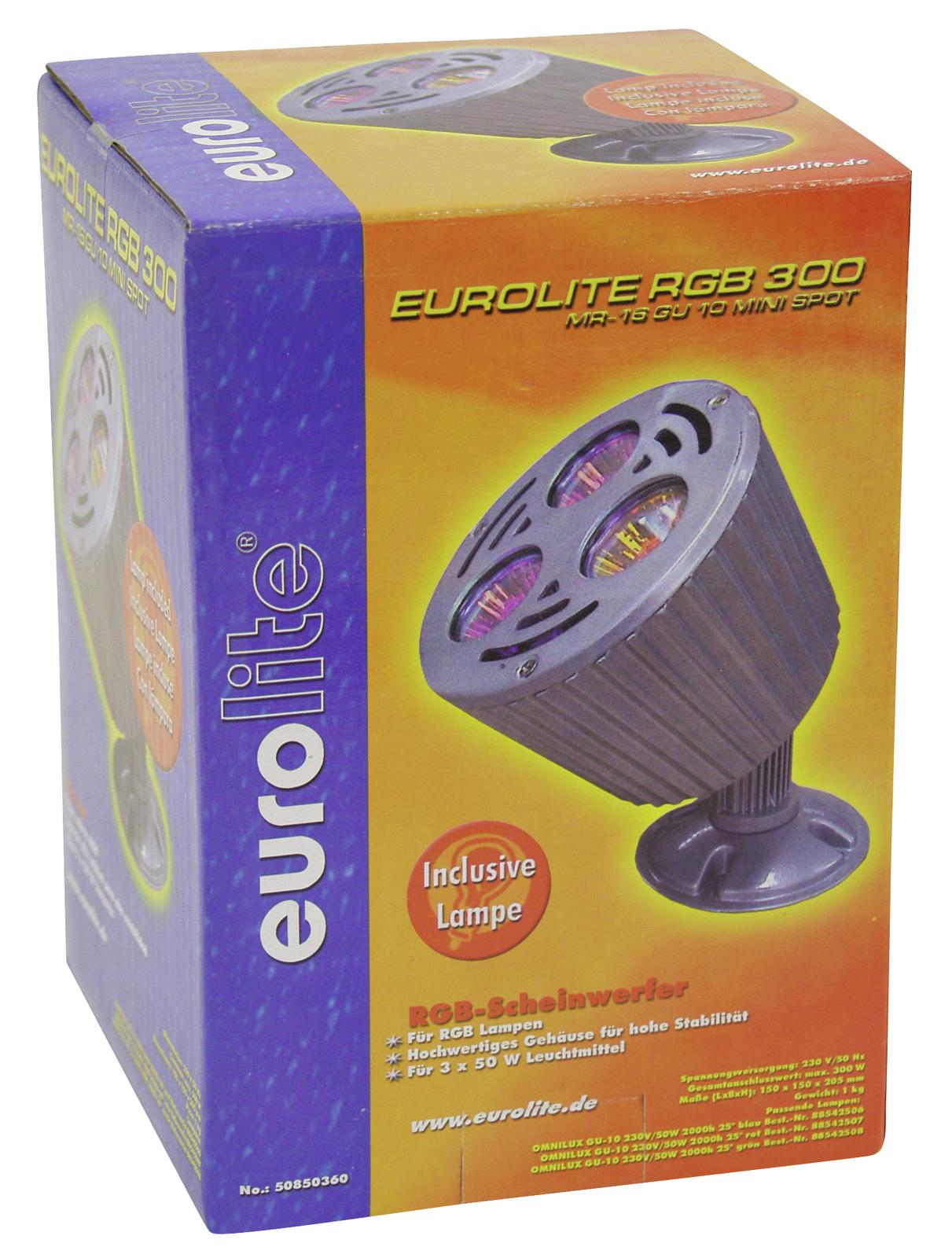 EUROLITE RGB-300 MR-16 GU-10 mini spot