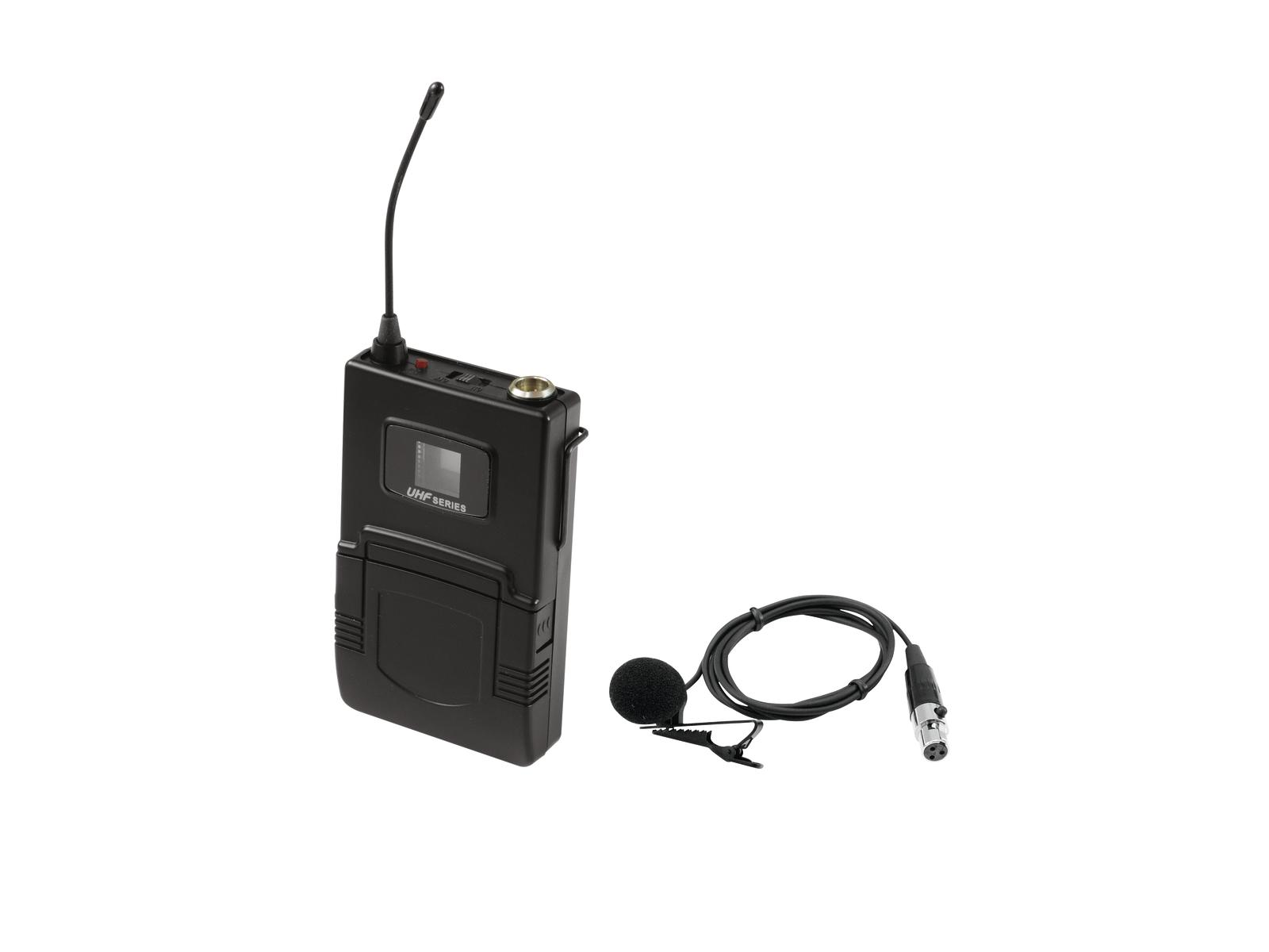 OMNITRONIC UHF-502 Bodypack incl. 863-865MHz, Lavalier (CH rosso