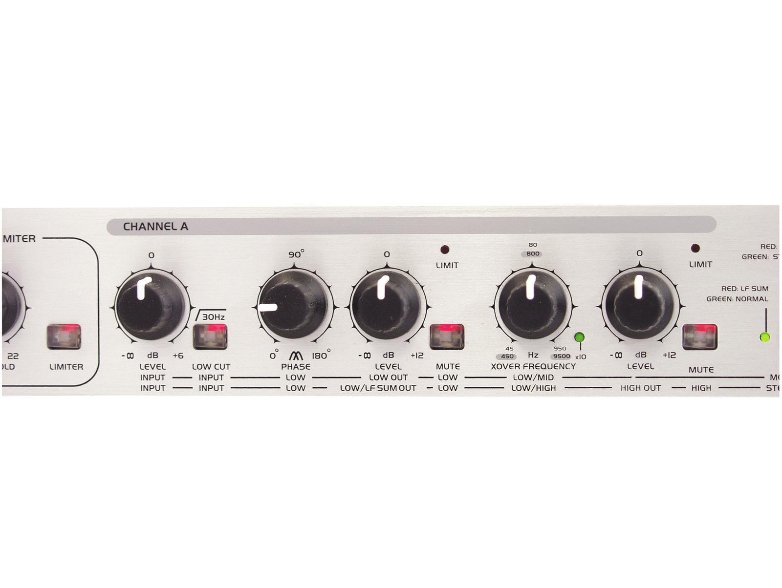 Compressore crossower limitatore audio attivo OMNITRONIC LXO-23