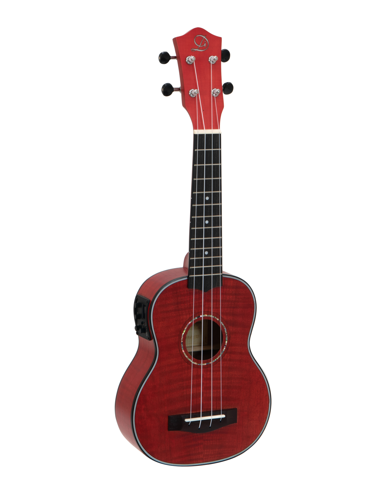 DIMAVERY UK-100 Sopran-Ukulele, flamed red