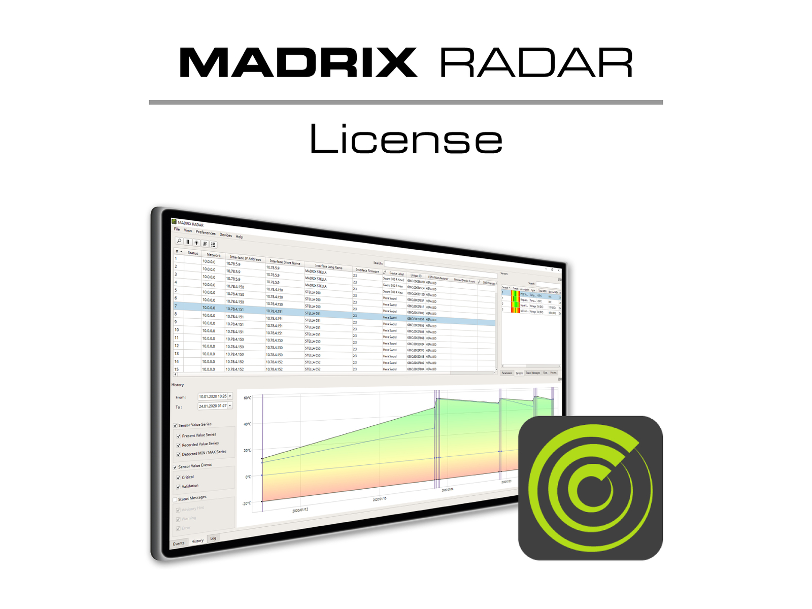 MADRIX Software RADAR big data jährliche Lizenz