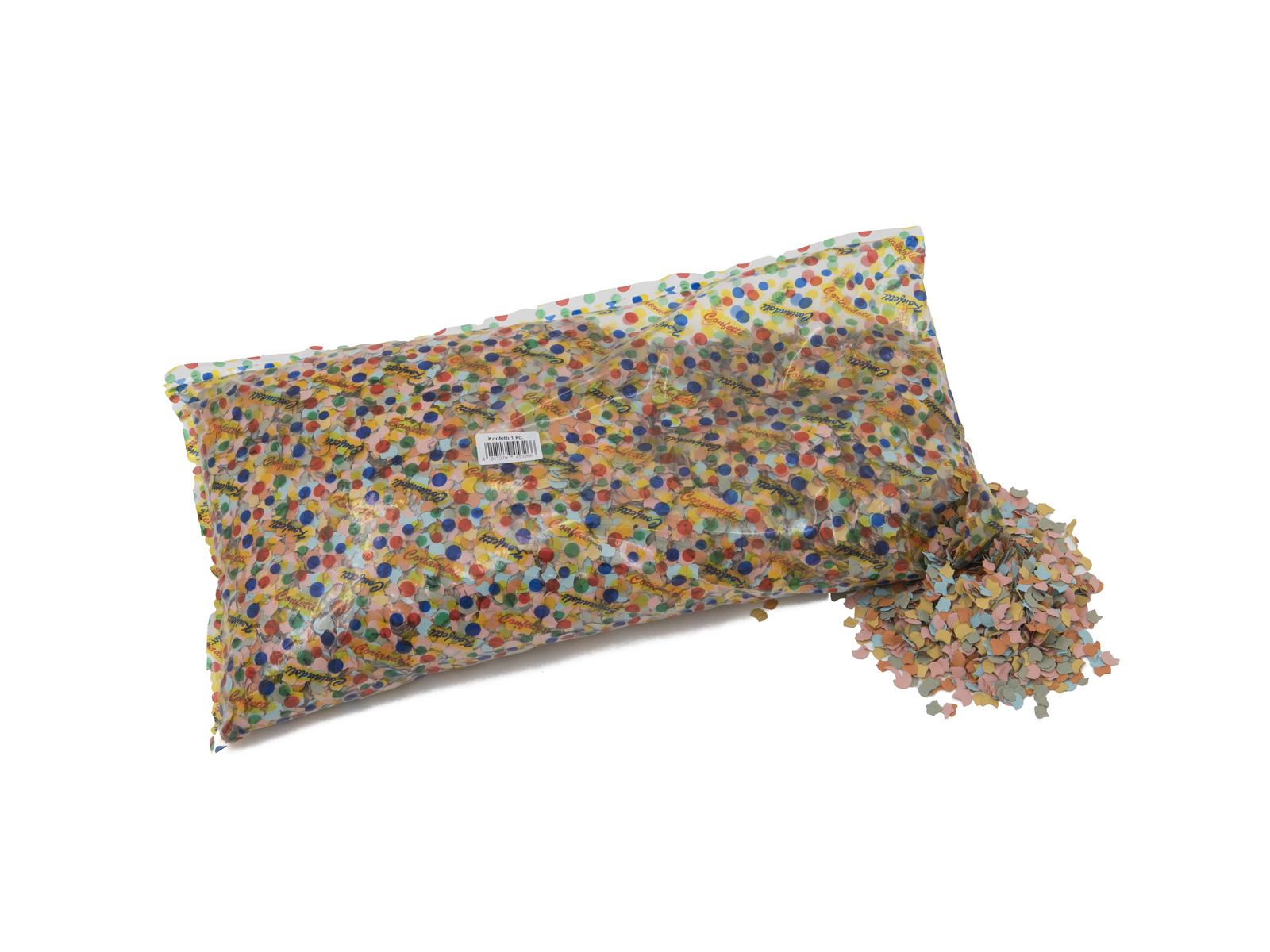 ACCESSORIO Confetti, multicolore, 7mm, 1kg