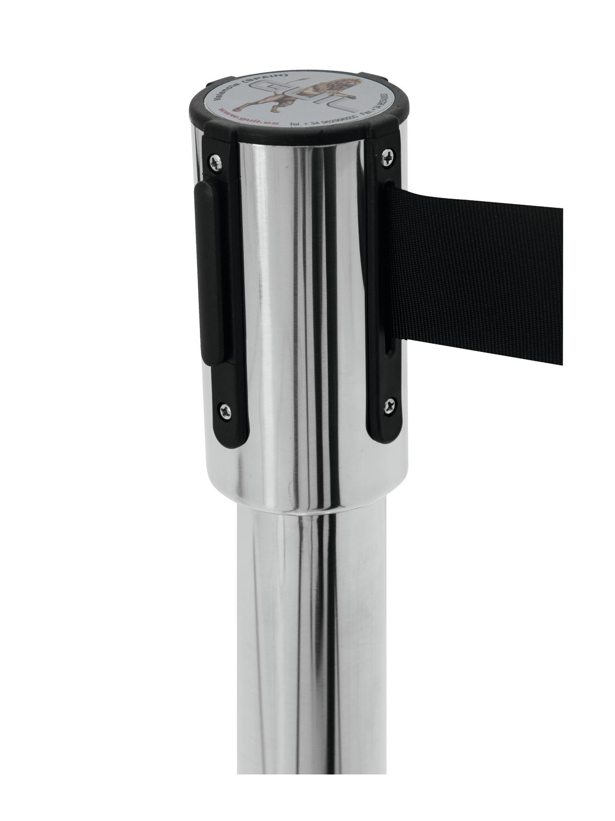 Barrier system GUIL PST-11N with belt retractable black